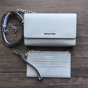 NWT Gorgeous Saffiano Leather 3-in-1 Crossbody!!!